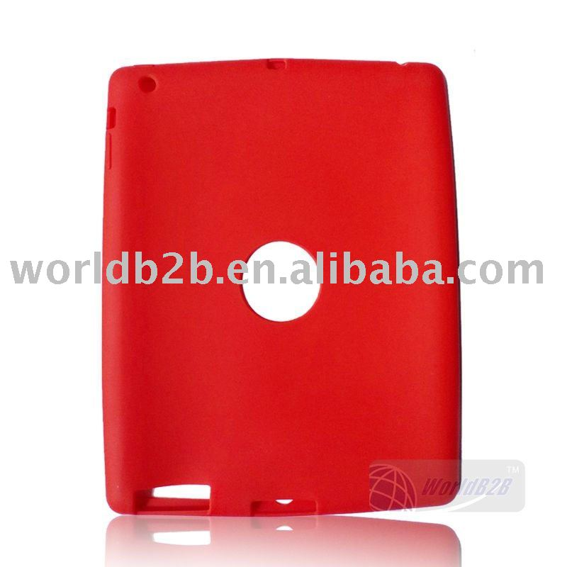 silicon Case Cover for iPad2 case ,Back with hole