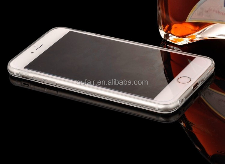 For Iphone 5 5S 5G 6 6s Clear Phone Cases Ultra Slim Soft Case Silicone Edge Shinny Mirror Back Cover case