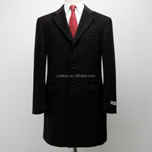 Black Long Trench Winter Suit Wool Luxury Model Chinese Supplier Factory Jacket Coat Men