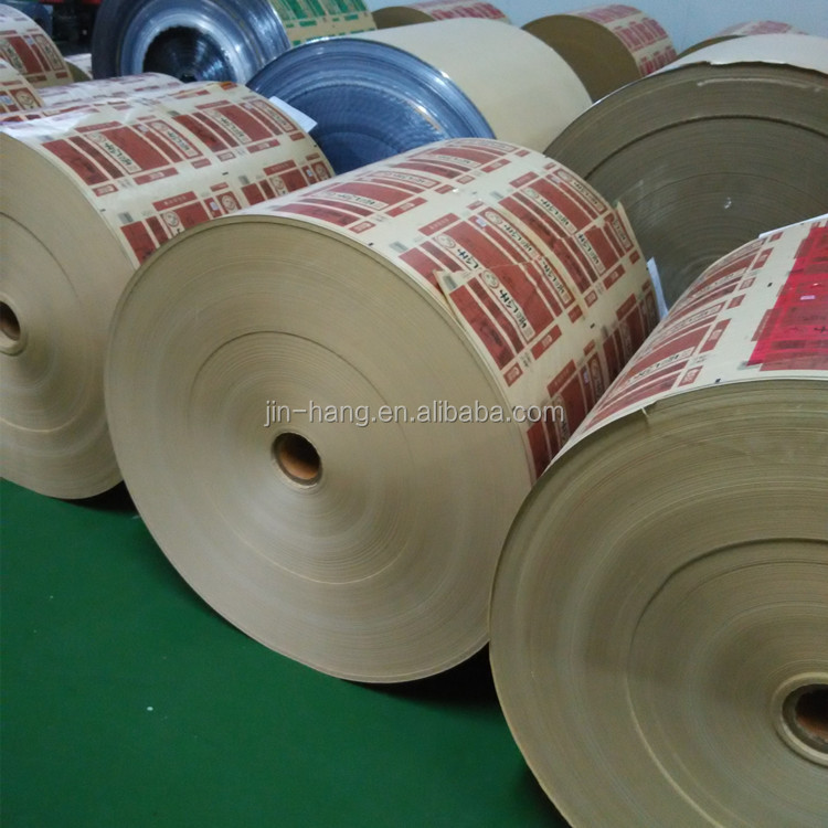 Aluminum Foil Laminated Kraft Paper for Butter Paper Wrapping Food Custom Printing