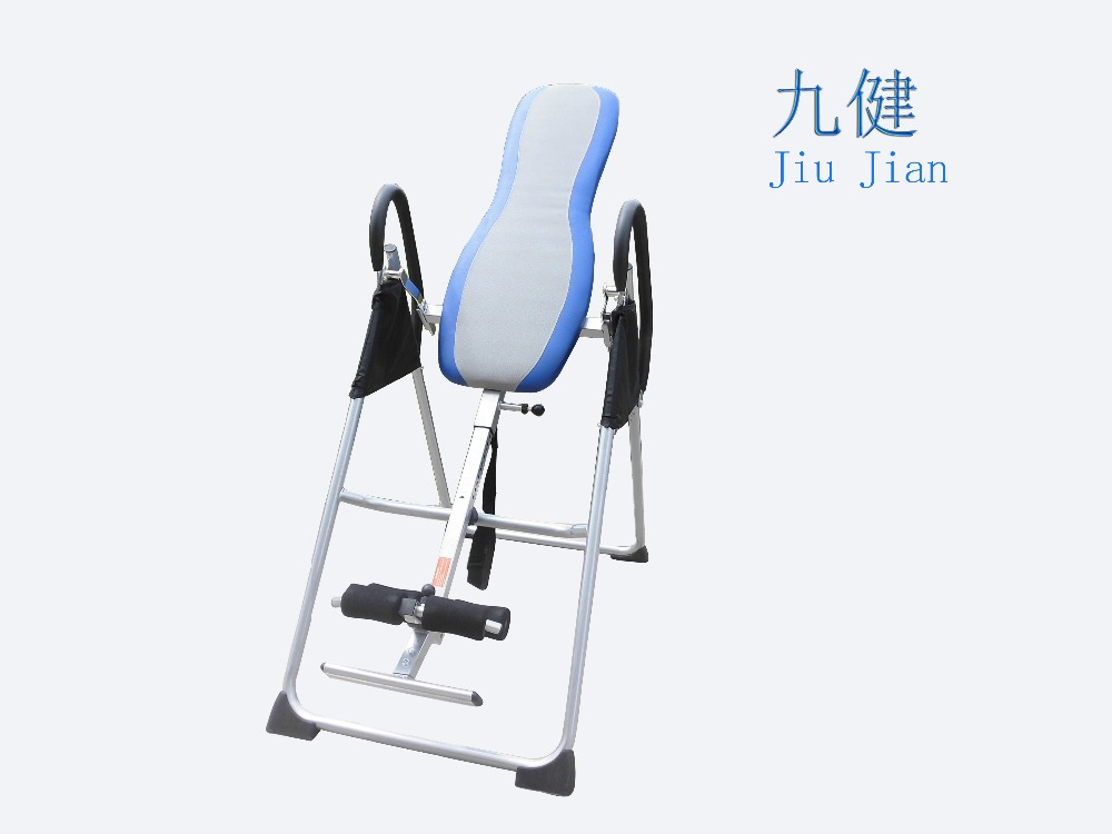 Back Reflexology Equipment Folding Inversion Table with Padded Backrest