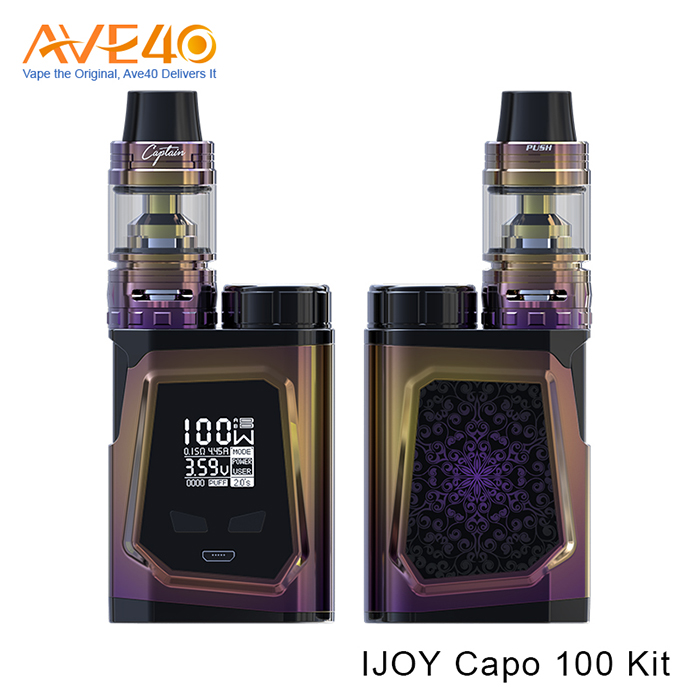 Ave40 offer Ijoy Capo 100 mod kit with 21700 battery