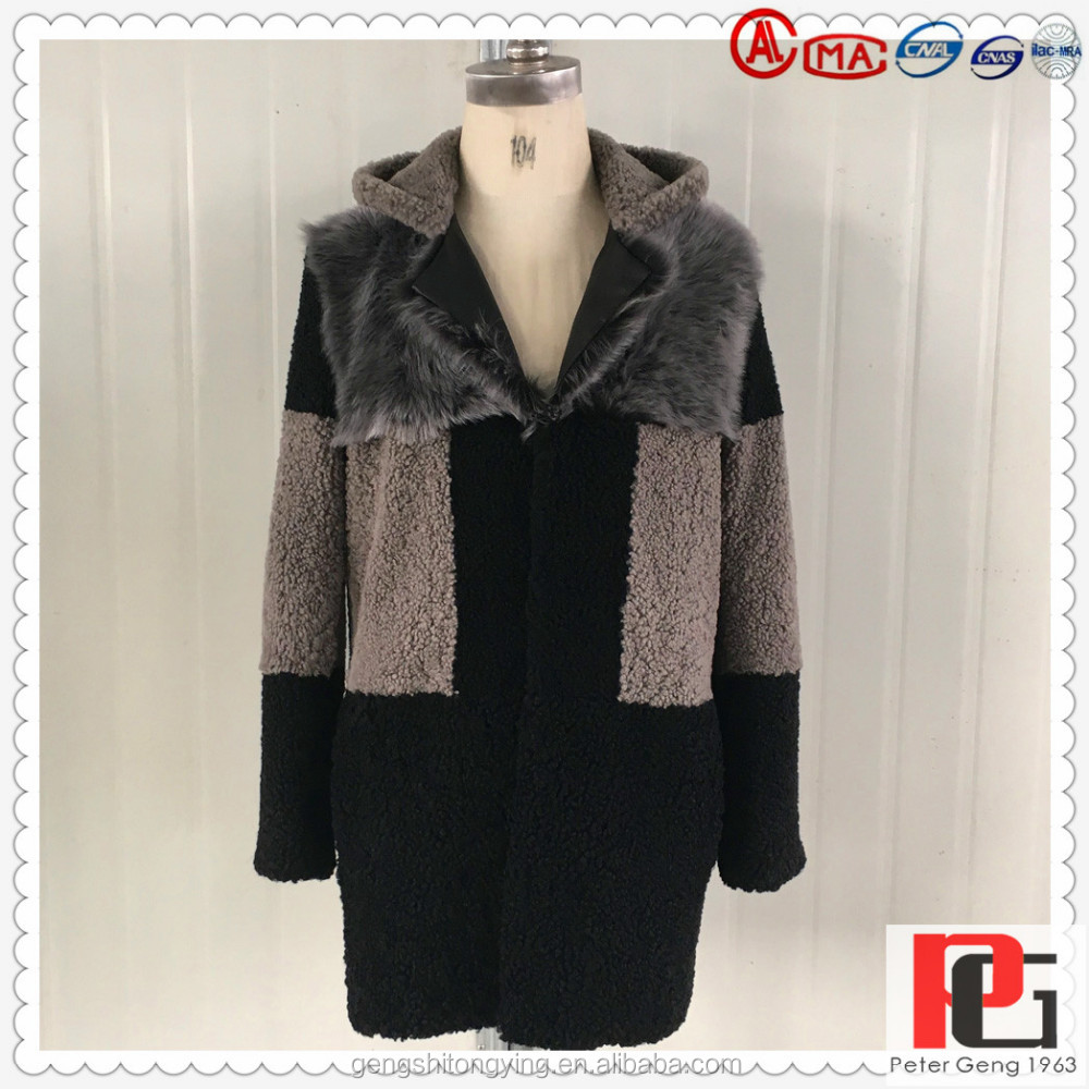 2016 NEW FASHIONABLE DESIGN FACTORY DIRECT WHOLESALES MENS DOUBLE FACE MERINOS WITH TOSCANAS COLLAR FUR COAT MADE IN CHINA