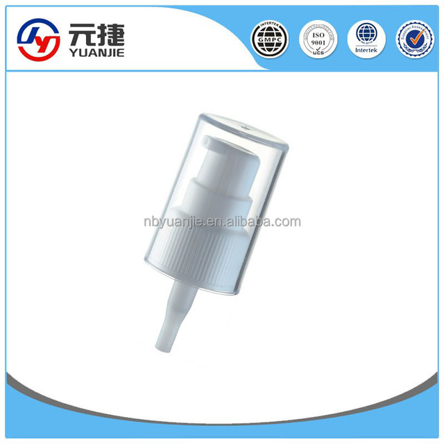 China manufacture plastic cream lotion dispenser treatment pump for body care