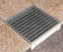 galvanized steel grating GU trench cover all around U