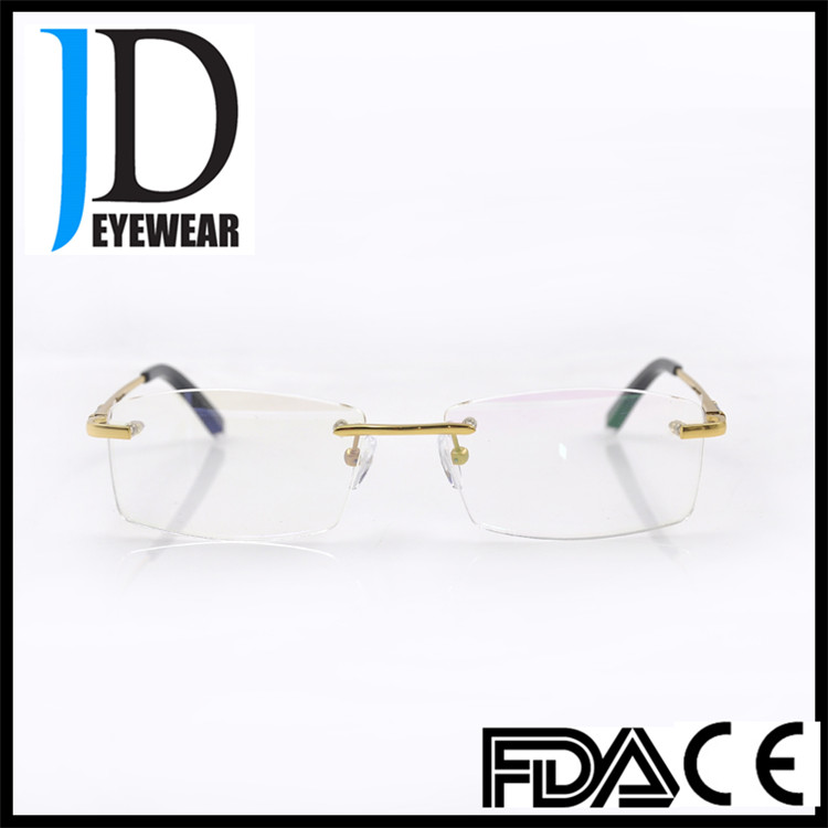 2016 High Quality B Titanium Rimless Wholesale Optical Eyeglasses Frame