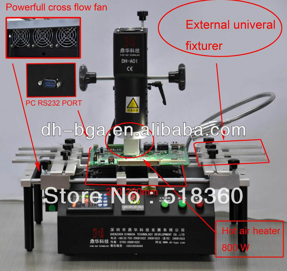 wholesale price DINGHUA DH-A01 Rework station SMT SMD BGA Rework and soldering station Made in China.