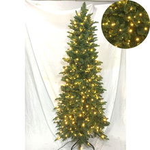 6ft slim yellow led light smell artificial christmas light stick tree