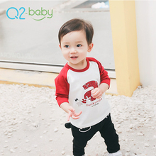 Q2-baby Bulk Promotional Custom Printed Round Neck Baby T Shirts