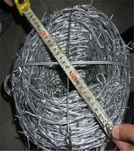 Factory price 12X14 galvanized barbed wire weight per meter for sale