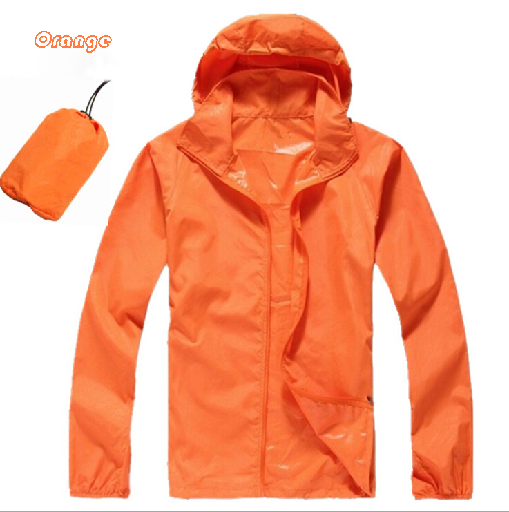 Stock/Customized Unisex Anti-violet Lovers apparel Lightweight Quick-drying Coat Plain Skin Waterproof Anti-wind Jacket