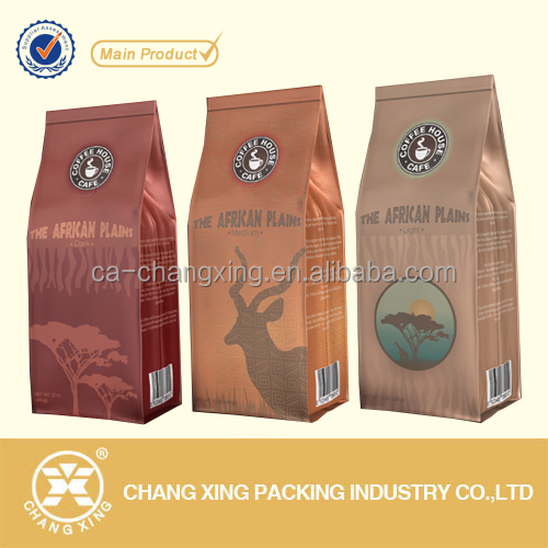 Resealable aluminum foil Coffee Bag Food Packaging Bag With Zipper Valve