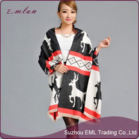 Winter Flannelette warm shawl women cashmere cape