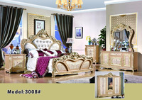 French Antique Luxury Louis Style Gold Bedroom Furniture Set, Outstanding Royal Gold Plated Bedroom Set