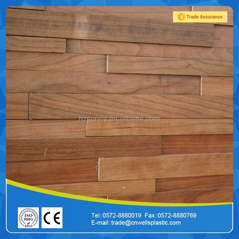 3D Wood effect wall tile wall covering
