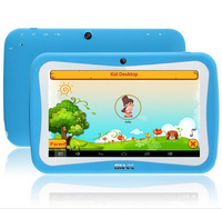 Free Shipping 7 inch Quad Core Children Kids Tablet PC 8GB RK3126 Android 5.1 MID Dual Cam & Educational Games App Birthday Gift
