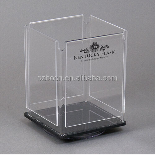 Clear Quad View Rotating Sign Holder/ Rotational Acrylic Menu Holder/Acrylic Menu Holder