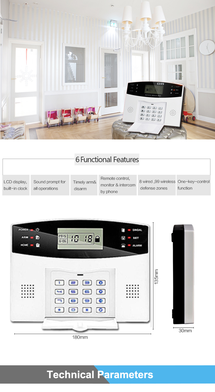 House security Equipment Home Automation NEW - Wireless GSM Alarm System with LCD Display