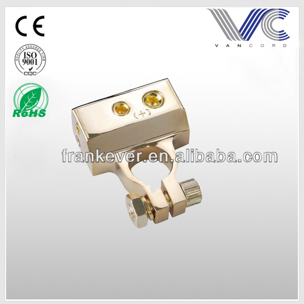 FrankEver popular gold plated battery terminal