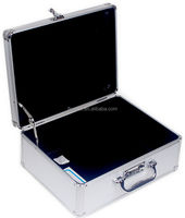 custom made aluminum hard trolley case carrying aluminum briefcase