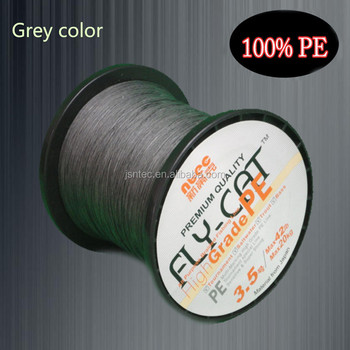 Dark gray 100% super polyethylene braided fishing line