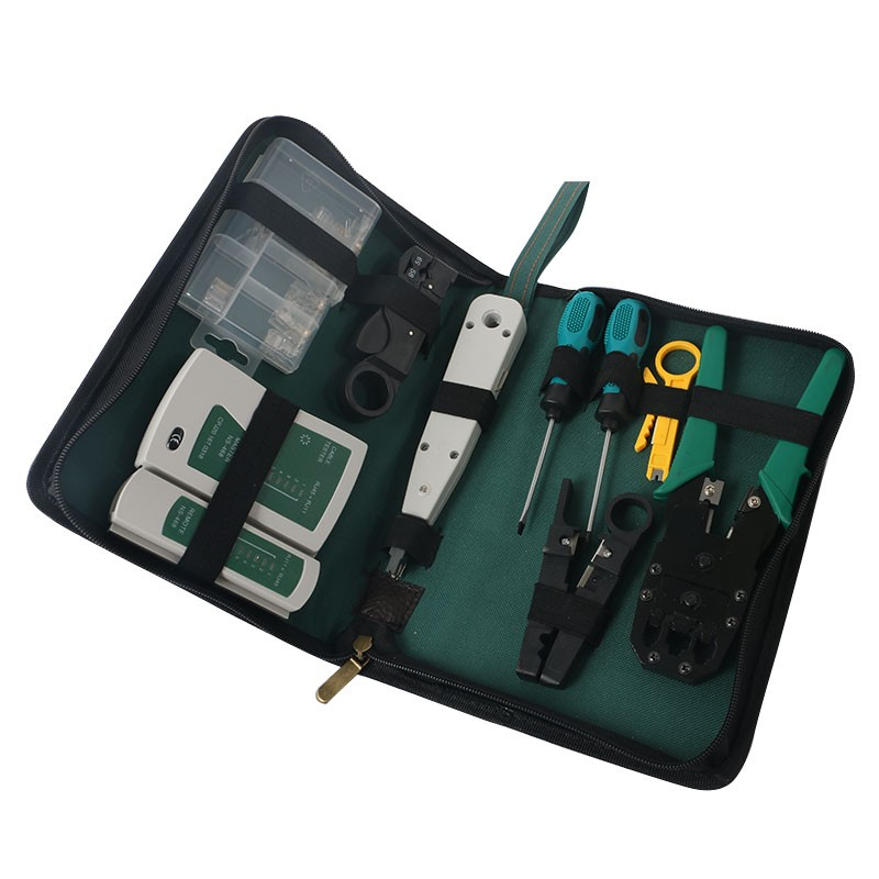 11 in 1 Computer Network Repair Tool Kit , LAN Cable Tester Wire Cutter Screwdriver Pliers Crimping Tool Set
