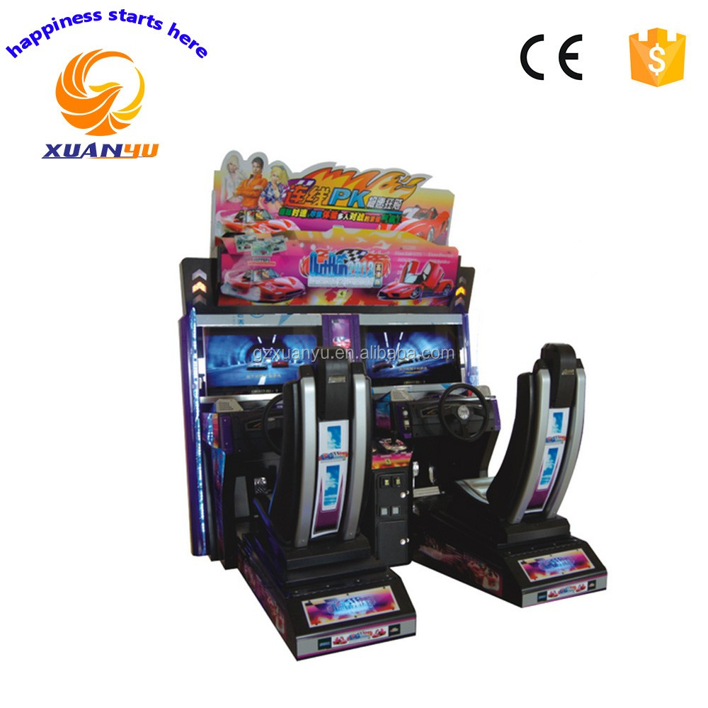 Amusement equipment simulator car racing 2 players game outrun 2013 play car racing games