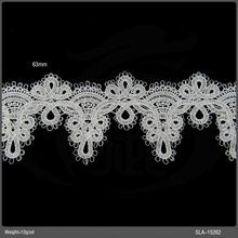 Latest Guipure Tulle lace narrow polyester lace trim