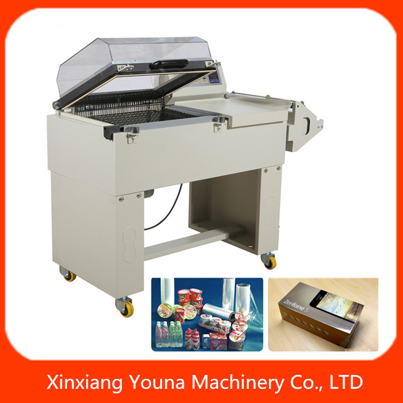 FM5540 manual 2 in 1 shrink packaging machine for PVC/POF