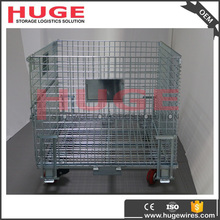 Heavy Duty Secure Folding Pallet Cage/Steel Pallet Box /Stillages With Wheels
