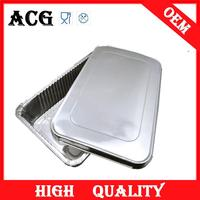 Meat coating perforated aluminum trays for bread for fast food