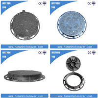 EN124 water meter cast iron manhole cover
