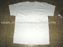 SEMI COMBED 120 GSM WHITE MEN ROUND NECK TEES