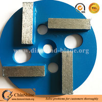 Metal bond 4 diamond segment bar floor grinding disc for concrete floor