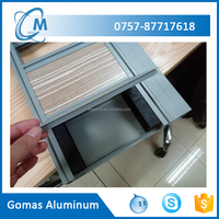 Office partition aluminum curtain wall profile workstation wall profile