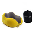 Perfect fit for neck PU foam beauty stitching colorful neck pillow for pain