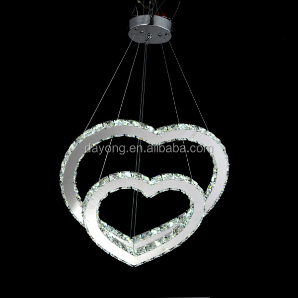 Double Heart Pendant Lighting For Dinning Room