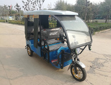 High quality Rickshaw 3 wheel taxi passenger electric tricycle/bicycle