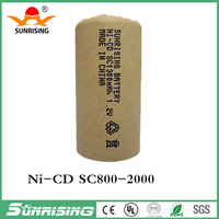 Sunrising rechargeable battery nicd sc 1.2v battery batteries 1300mah for electrical power tools