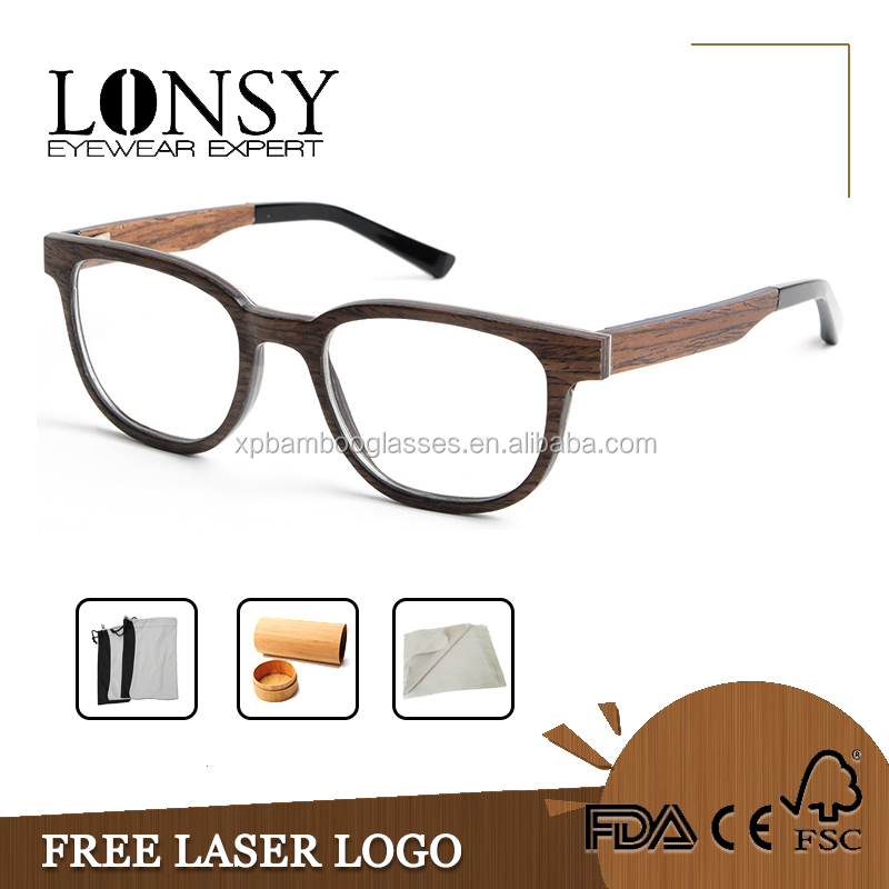 Spectacle Wood Optical Glasses Frames OEM for Famous Brands Name LS2939