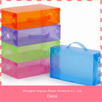 2015 high quality decotative case customized clear plastic pp storage box