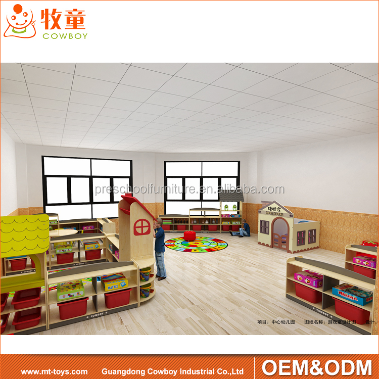 nursery kindergarten kids plywood furniture set table and chair for preschool classroom