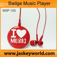 NSP-100 Clip MP3 player, promotion mp3 player,mini player mp3