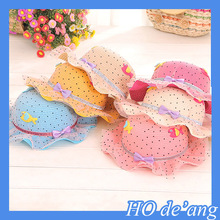 HOGIFT Factory Outlet various baby straw hat, flouncing children straw hat,outdoor brim sun hat
