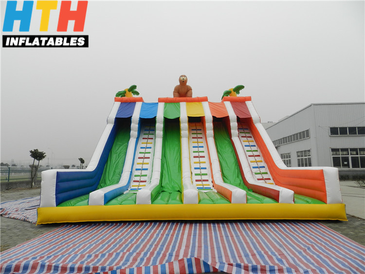 HTH Attractive rainbow adult inflatable water slide