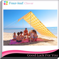 Portable Beach Sunshade Tent / Superior Sun Protection Outdoor Beach Tent / Easy Set Up Sun Shelter Picnic Tents