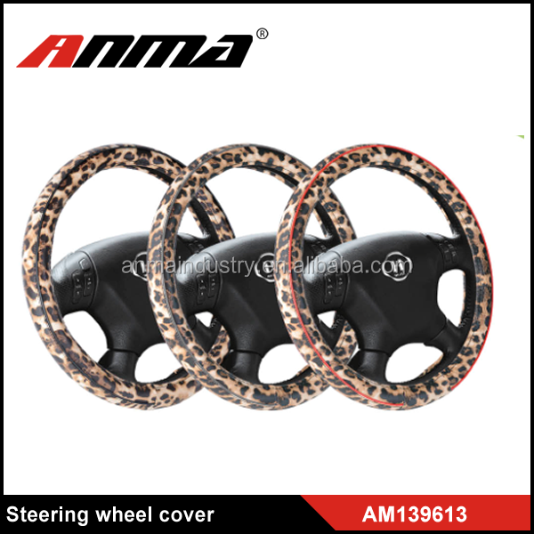 car animal fur velvet anti-slip steering wheel covers
