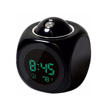 LCD Projection Clock Electronic Desk Clock Radio Snooze Projector Watch Talking Digital Alarm Clock With Time Projection