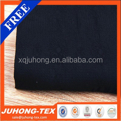 Nylon spandex rayon stretch jacquard woven fabric.