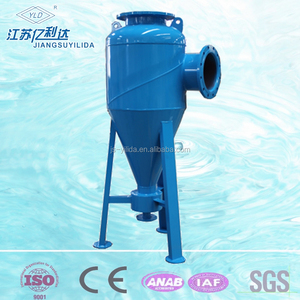 Irrigation water treatment hydrocyclone sand separator to remove mud and sand